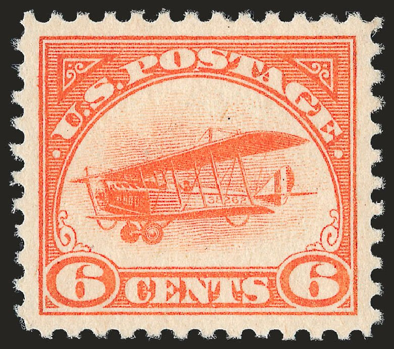 Cost of US Stamp Scott Catalogue # C1 - 1918 6c Air Curtiss Jenny. Robert Siegel Auction Galleries, Sep 2009, Sale 976, Lot 2214