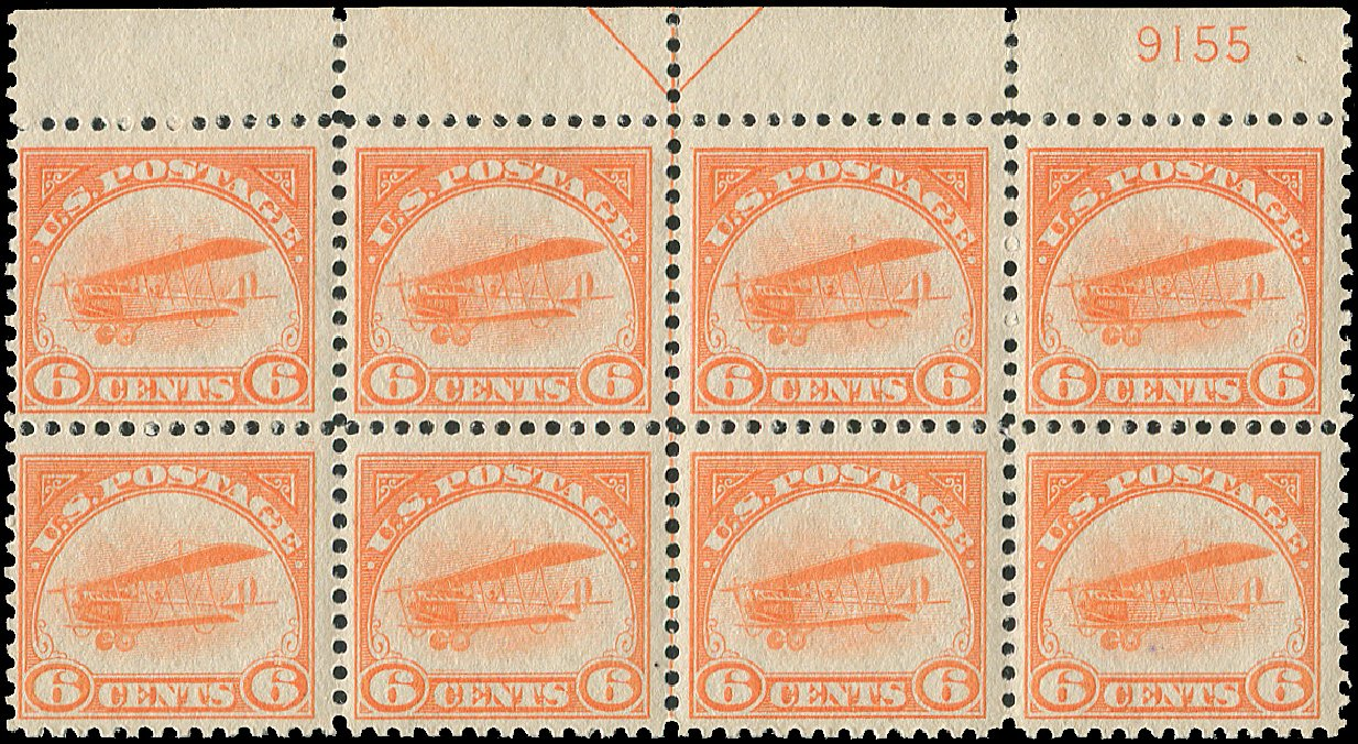Costs of US Stamps Scott Catalogue # C1: 6c 1918 Air Curtiss Jenny. Regency-Superior, Aug 2015, Sale 112, Lot 1405