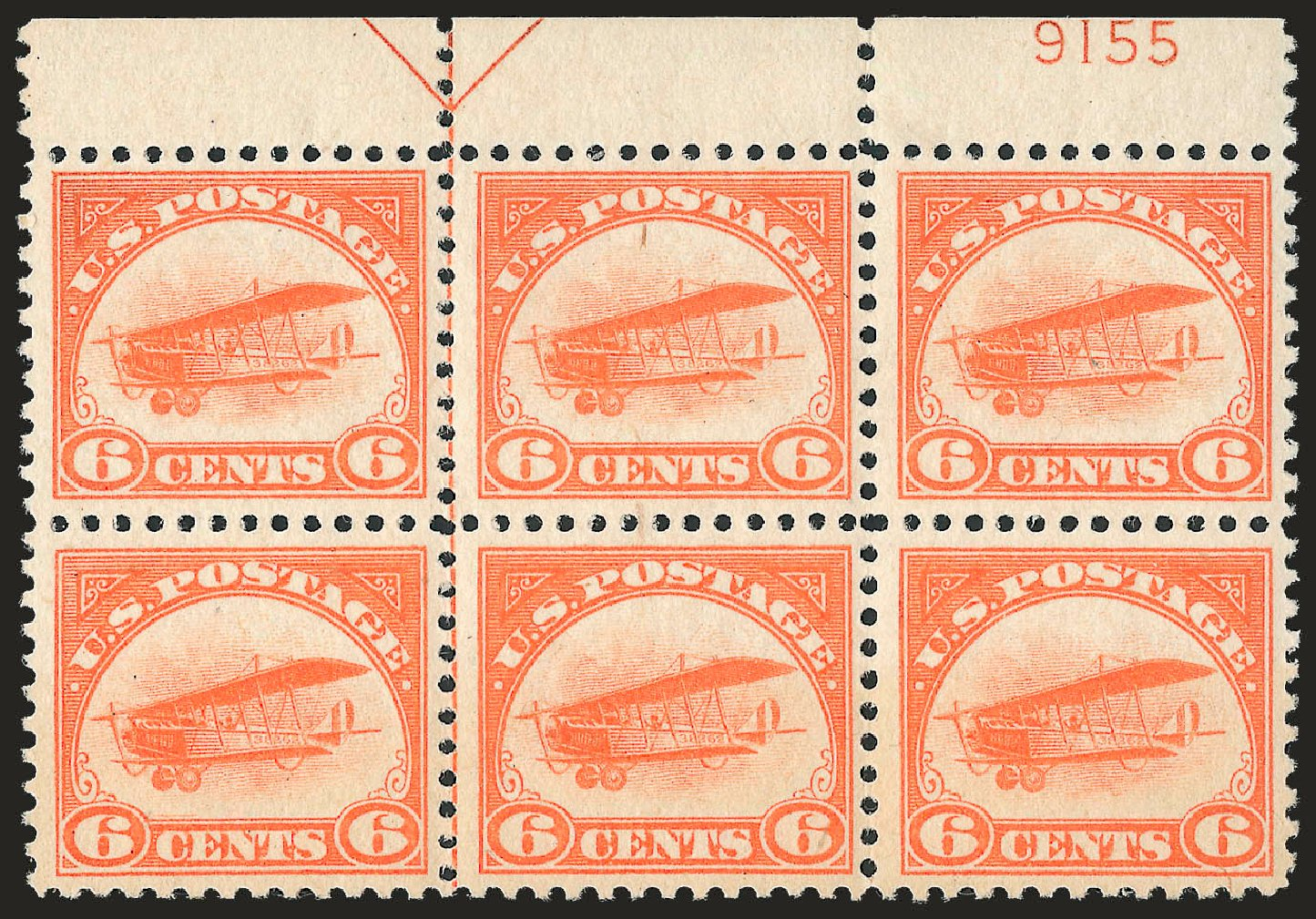 Price of US Stamps Scott Catalogue # C1: 6c 1918 Air Curtiss Jenny. Robert Siegel Auction Galleries, Sep 2009, Sale 976, Lot 2215