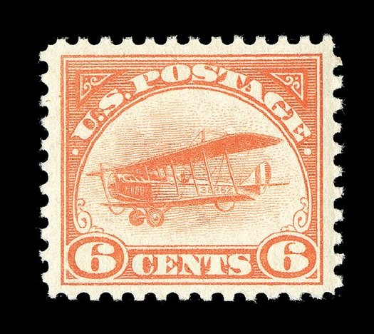 US Stamp Price Scott Catalog C1 - 6c 1918 Air Curtiss Jenny. Spink Shreves Galleries, May 2014, Sale 148, Lot 355