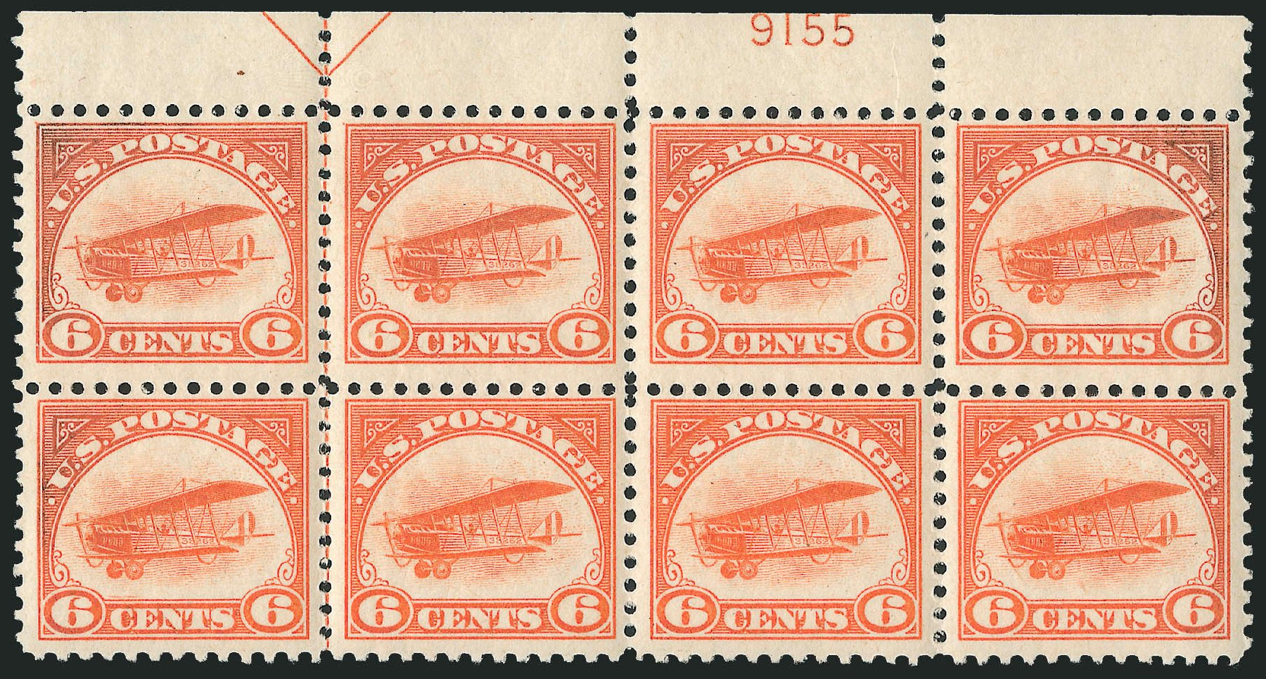 US Stamps Price Scott # C1 - 6c 1918 Air Curtiss Jenny. Robert Siegel Auction Galleries, Apr 2009, Sale 971, Lot 1862