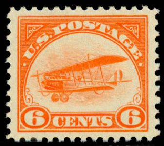 Costs of US Stamp Scott #C1 - 1918 6c Air Curtiss Jenny. Daniel Kelleher Auctions, May 2015, Sale 669, Lot 3223
