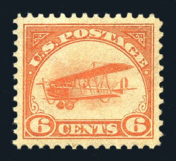 Prices of US Stamp Scott #C1: 1918 6c Air Curtiss Jenny. Harmer-Schau Auction Galleries, Aug 2015, Sale 106, Lot 2006