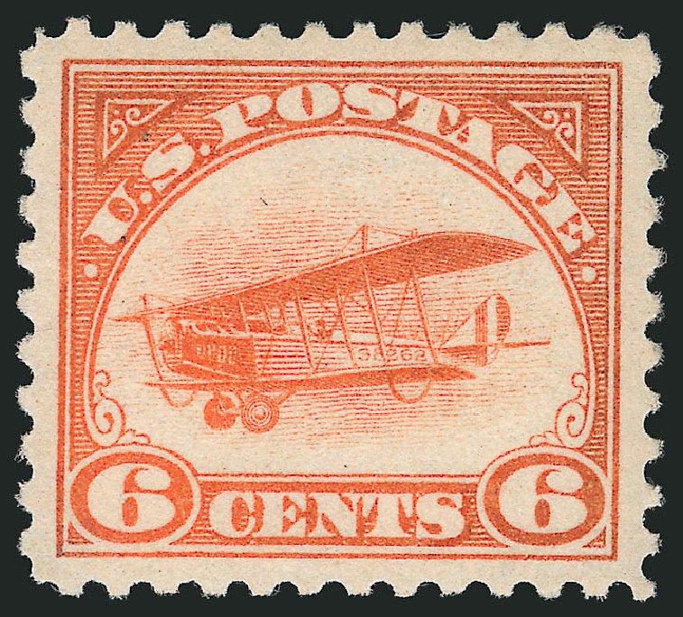 Price of US Stamps Scott Catalog # C1 - 1918 6c Air Curtiss Jenny. Robert Siegel Auction Galleries, Mar 2014, Sale 1067, Lot 1636