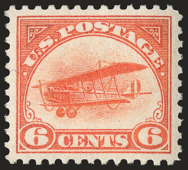 Prices of US Stamps Scott Catalog #C1: 1918 6c Air Curtiss Jenny. Robert Siegel Auction Galleries, Sep 2009, Sale 968B, Lot 756