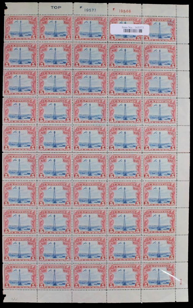 US Stamp Price Scott Catalogue #C11: 1928 5c Air Beacon on Rocky Mountains. Daniel Kelleher Auctions, May 2014, Sale 652, Lot 830