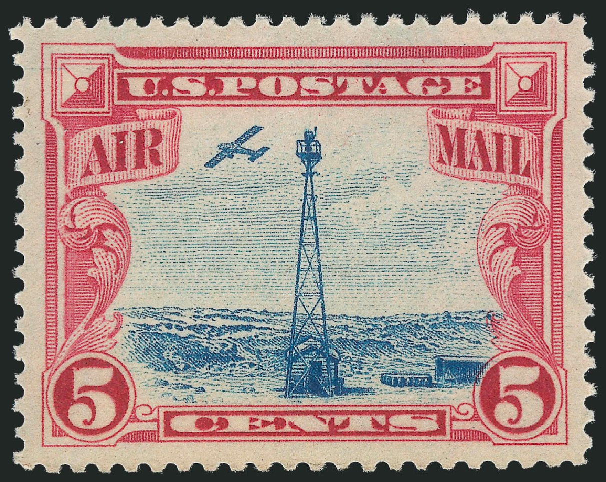 Price of US Stamps Scott Catalogue # C11: 1928 5c Air Beacon on Rocky Mountains. Robert Siegel Auction Galleries, Nov 2013, Sale 1061, Lot 4054