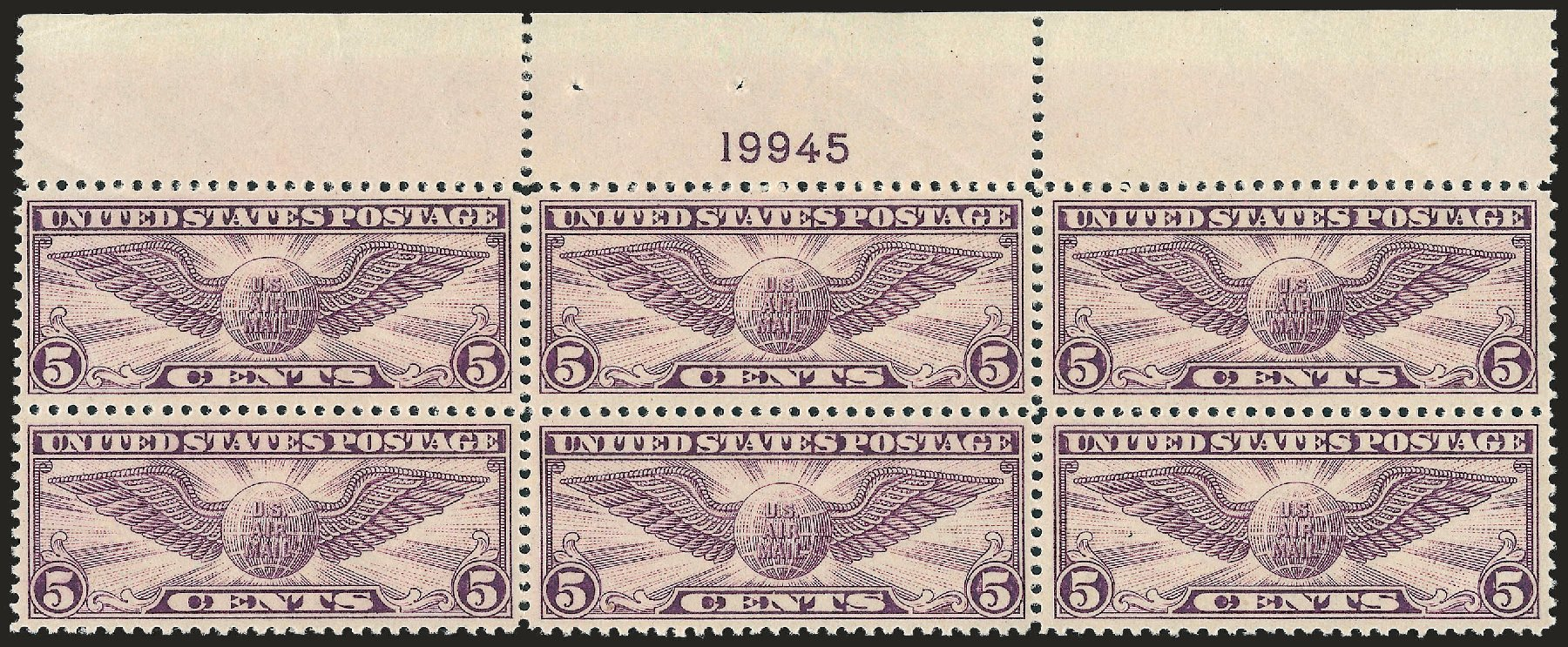 Value of US Stamps Scott Cat. C12 - 5c 1930 Air Winged Globe. Robert Siegel Auction Galleries, Sep 2009, Sale 976, Lot 2230