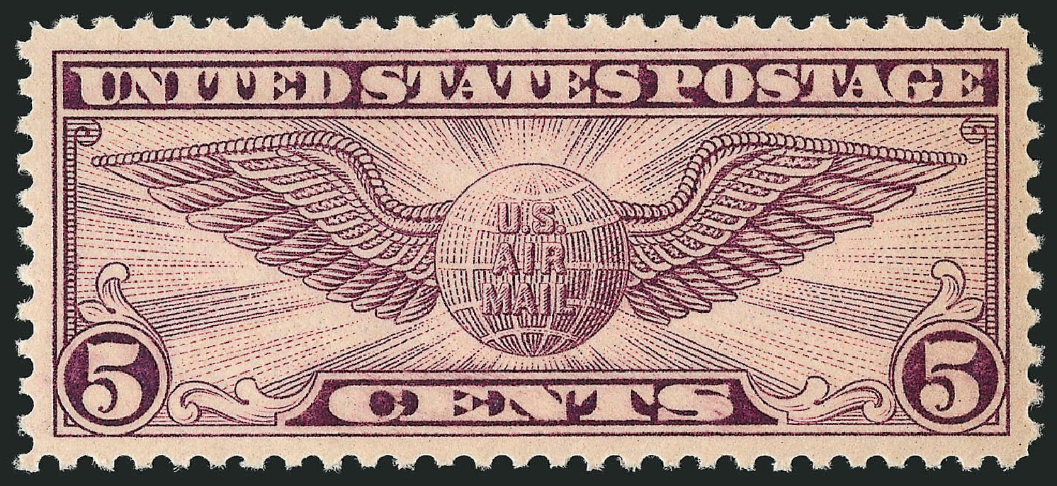Prices of US Stamps Scott # C12 - 5c 1930 Air Winged Globe. Robert Siegel Auction Galleries, Sep 2008, Sale 962, Lot 2944