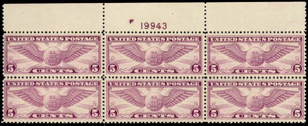 US Stamp Value Scott Catalogue #C12: 1930 5c Air Winged Globe. Daniel Kelleher Auctions, May 2014, Sale 653, Lot 2482