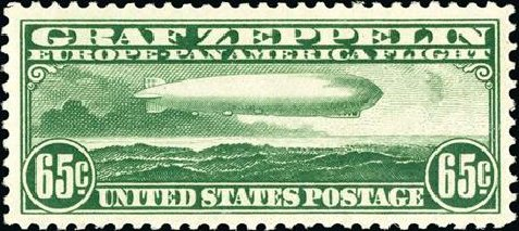 Costs of US Stamp Scott Catalog C13: 1930 65c Air Graf Zeppelin. Spink Shreves Galleries, Jan 2015, Sale 150, Lot 230
