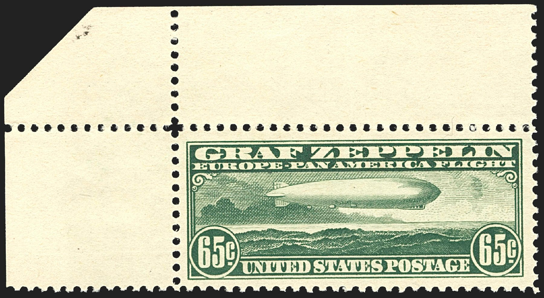 US Stamps Values Scott Cat. # C13: 1930 65c Air Graf Zeppelin. Robert Siegel Auction Galleries, Jul 2015, Sale 1107, Lot 591