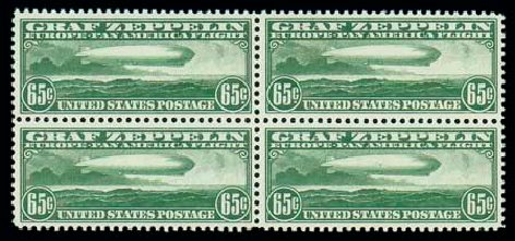 US Stamp Price Scott Catalogue #C13: 65c 1930 Air Graf Zeppelin. Matthew Bennett International, Dec 2007, Sale 325, Lot 2364