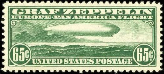 Value of US Stamps Scott Catalogue # C13 - 1930 65c Air Graf Zeppelin. Spink Shreves Galleries, Jul 2015, Sale 151, Lot 364