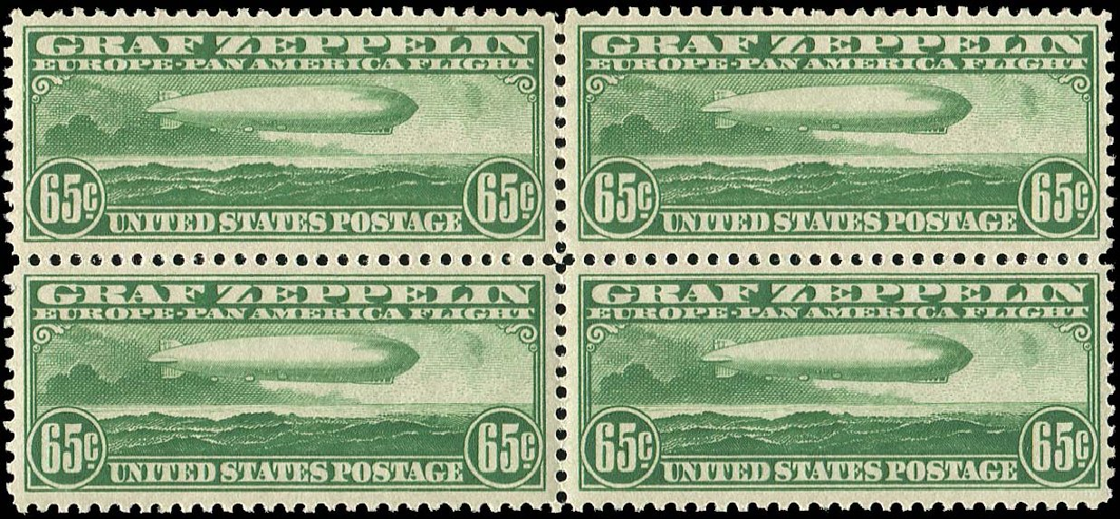 US Stamp Price Scott Catalogue C13 - 65c 1930 Air Graf Zeppelin. Regency-Superior, Nov 2014, Sale 108, Lot 1095