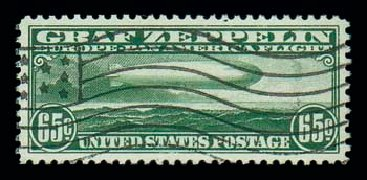 Price of US Stamp Scott Catalogue # C13 - 65c 1930 Air Graf Zeppelin. Matthew Bennett International, Dec 2007, Sale 325, Lot 2363