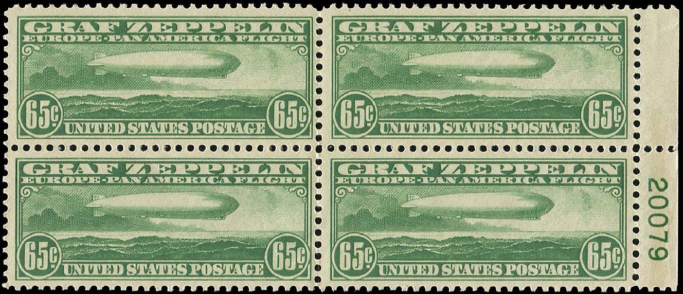 US Stamp Prices Scott # C13: 65c 1930 Air Graf Zeppelin. Regency-Superior, Nov 2014, Sale 108, Lot 1096