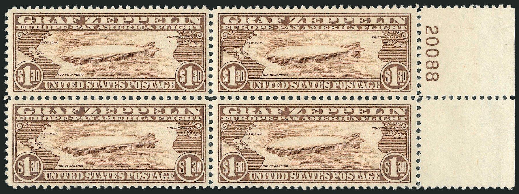 Price of US Stamps Scott #C14: 1930 US$1.30 Air Graf Zeppelin. Robert Siegel Auction Galleries, Dec 2014, Sale 1090, Lot 1614