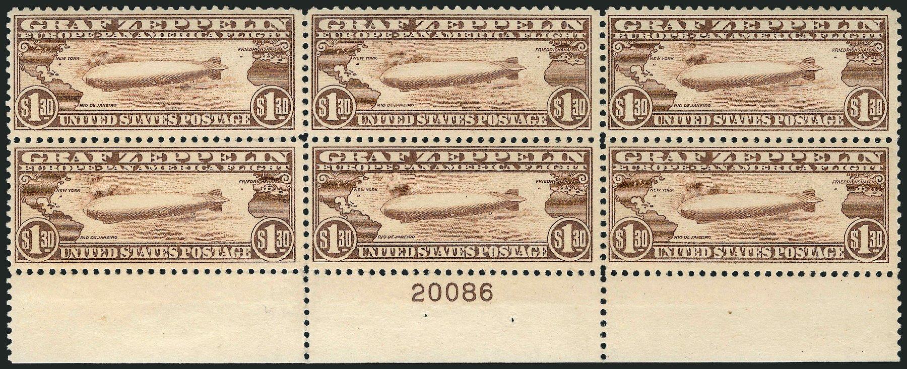 Cost of US Stamp Scott # C14 - 1930 US$1.30 Air Graf Zeppelin. Robert Siegel Auction Galleries, Apr 2015, Sale 1096, Lot 824