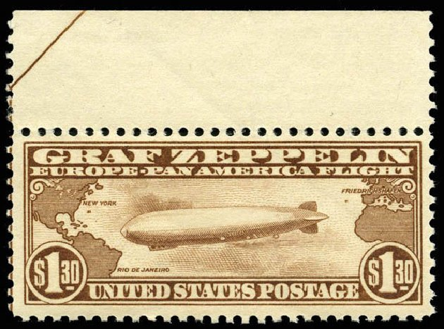 Cost of US Stamps Scott Catalog # C14 - 1930 US$1.30 Air Graf Zeppelin. Matthew Bennett International, Apr 2008, Sale 326, Lot 583