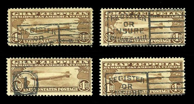 Price of US Stamp Scott Cat. # C14 - US$1.30 1930 Air Graf Zeppelin. Harmer-Schau Auction Galleries, Aug 2015, Sale 106, Lot 2053