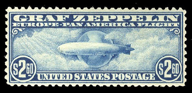 Prices of US Stamp Scott Catalogue C15 - 1930 US$2.60 Air Graf Zeppelin. Cherrystone Auctions, Mar 2015, Sale 201503, Lot 77