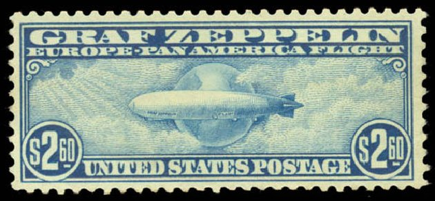 Cost of US Stamp Scott # C15 - 1930 US$2.60 Air Graf Zeppelin. Daniel Kelleher Auctions, Aug 2015, Sale 672, Lot 2898
