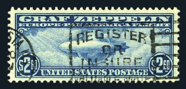 US Stamps Value Scott Catalogue # C15 - US$2.60 1930 Air Graf Zeppelin. Harmer-Schau Auction Galleries, Aug 2015, Sale 106, Lot 2059