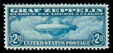 US Stamps Price Scott # C15: US$2.60 1930 Air Graf Zeppelin. Matthew Bennett International, Dec 2007, Sale 325, Lot 2374