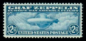 Price of US Stamps Scott #C15: US$2.60 1930 Air Graf Zeppelin. Matthew Bennett International, Dec 2007, Sale 325, Lot 2375