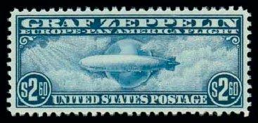 Price of US Stamps Scott #C15 - US$2.60 1930 Air Graf Zeppelin. Matthew Bennett International, Dec 2007, Sale 325, Lot 2372
