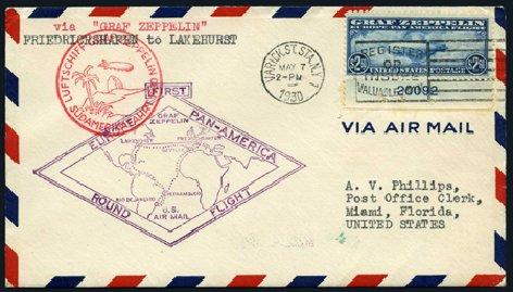 Value of US Stamp Scott Catalogue C15 - US$2.60 1930 Air Graf Zeppelin. Harmer-Schau Auction Galleries, Apr 2008, Sale 77, Lot 133