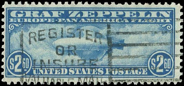 Prices of US Stamps Scott Catalog #C15 - US$2.60 1930 Air Graf Zeppelin. Regency-Superior, Aug 2015, Sale 112, Lot 1043