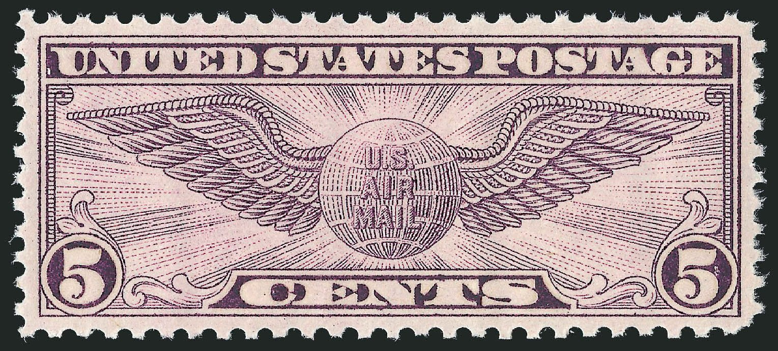 US Stamp Value Scott Catalog C16: 1931 5c Air Winged Globe. Robert Siegel Auction Galleries, Dec 2010, Sale 1000, Lot 1269