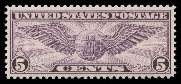 Price of US Stamp Scott Catalogue # C16 - 1931 5c Air Winged Globe. Matthew Bennett International, Sep 2010, Sale 333, Lot 3915