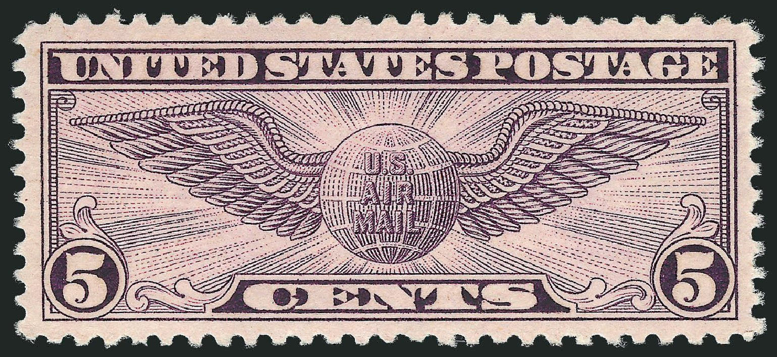 Values of US Stamps Scott # C16 - 5c 1931 Air Winged Globe. Robert Siegel Auction Galleries, Dec 2008, Sale 967, Lot 5066