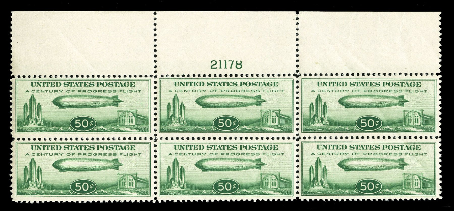 Costs of US Stamp Scott Catalogue # C18 - 50c 1933 Air Graf Zeppelin. Cherrystone Auctions, Jul 2015, Sale 201507, Lot 2187