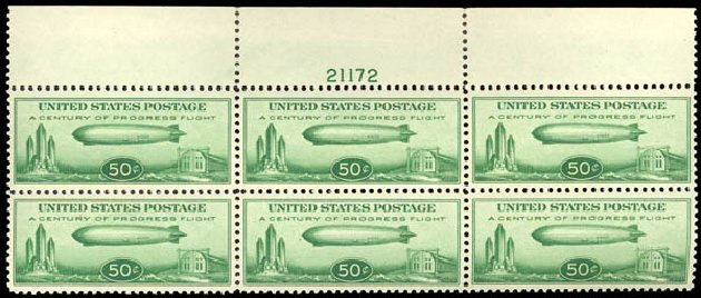 US Stamp Price Scott C18 - 1933 50c Air Graf Zeppelin. Daniel Kelleher Auctions, May 2015, Sale 669, Lot 3257