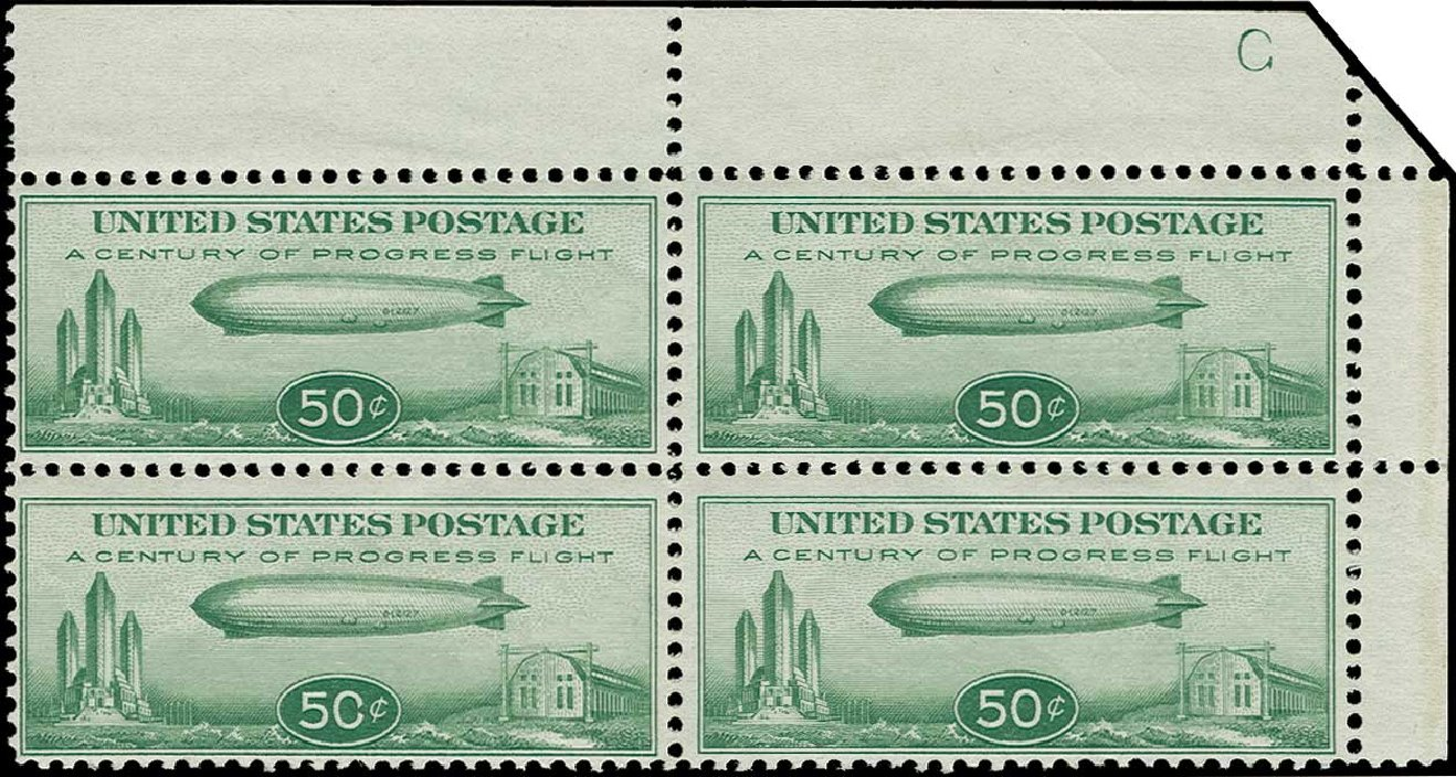 Prices of US Stamp Scott #C18 - 1933 50c Air Graf Zeppelin. H.R. Harmer, Jun 2015, Sale 3007, Lot 3458
