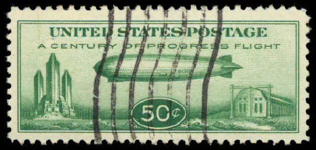 Prices of US Stamp Scott Catalog # C18: 1933 50c Air Graf Zeppelin. Daniel Kelleher Auctions, May 2015, Sale 669, Lot 3258