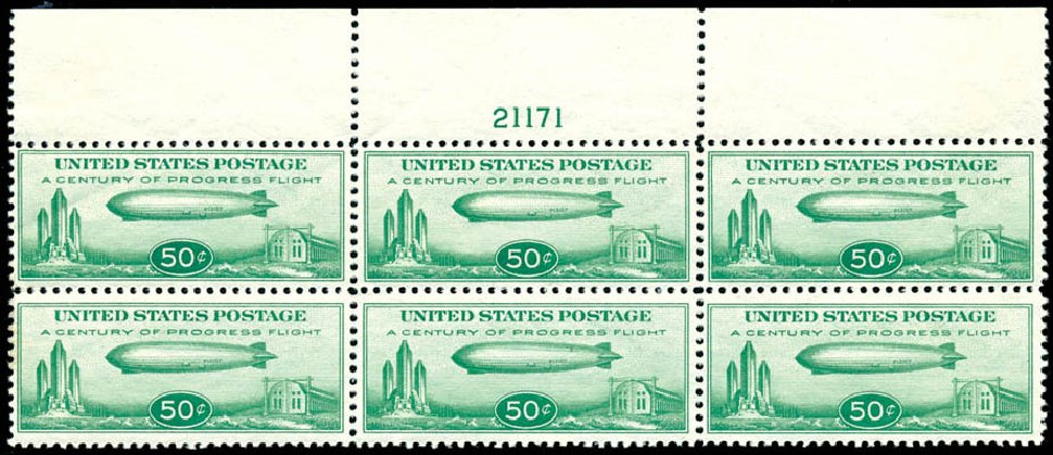 US Stamp Value Scott Catalogue #C18: 1933 50c Air Graf Zeppelin. Schuyler J. Rumsey Philatelic Auctions, Apr 2015, Sale 60, Lot 3008
