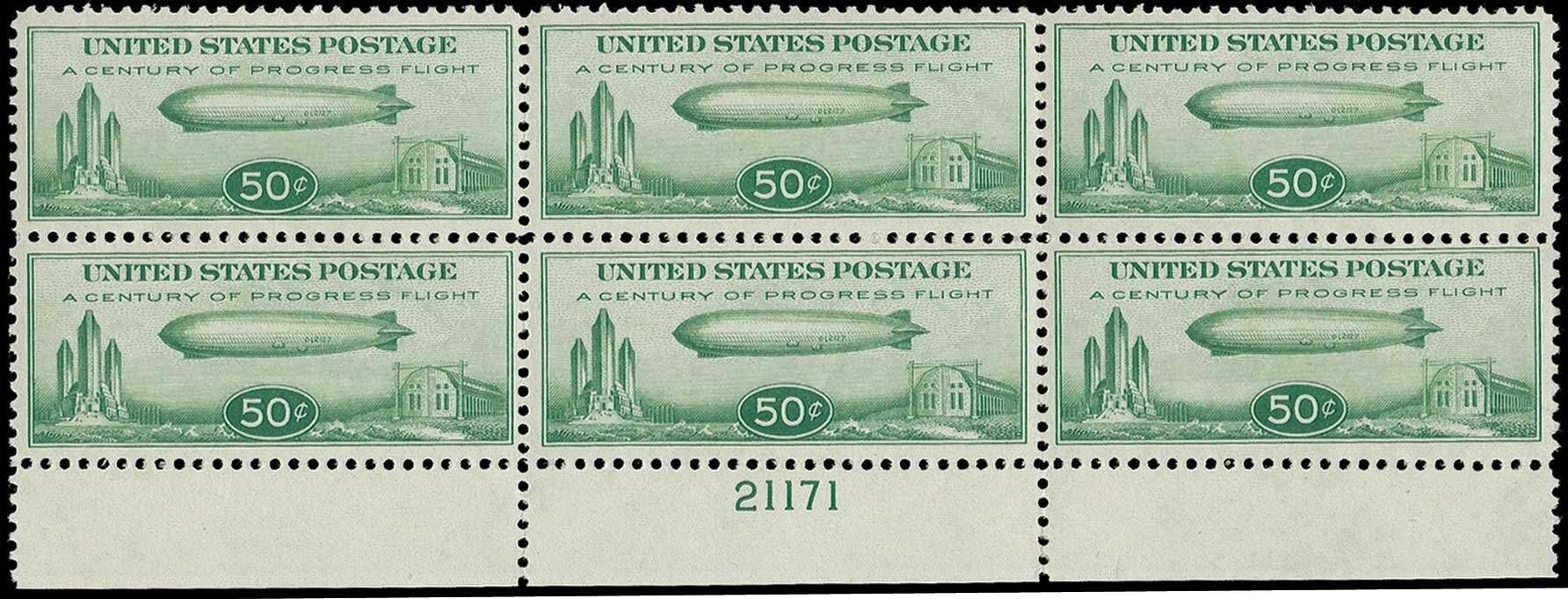 Price of US Stamp Scott Catalog #C18: 1933 50c Air Graf Zeppelin. H.R. Harmer, Jun 2015, Sale 3007, Lot 3459