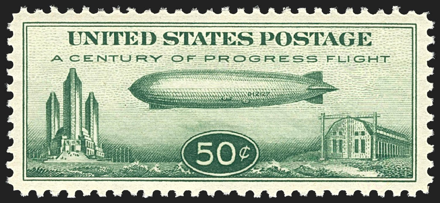 Price of US Stamp Scott Catalogue #C18: 50c 1933 Air Graf Zeppelin. Robert Siegel Auction Galleries, Jul 2015, Sale 1107, Lot 599