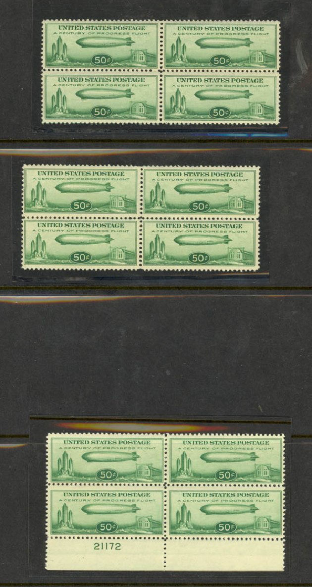Costs of US Stamp Scott Catalogue # C18 - 50c 1933 Air Graf Zeppelin. Daniel Kelleher Auctions, May 2015, Sale 669, Lot 3260