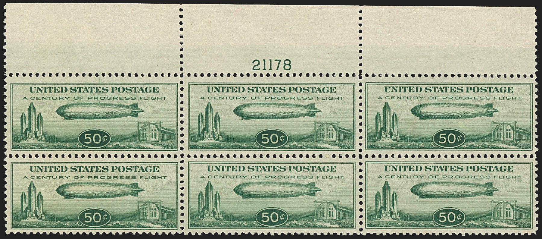 Value of US Stamps Scott Cat. # C18: 50c 1933 Air Graf Zeppelin. Robert Siegel Auction Galleries, Jul 2015, Sale 1107, Lot 600