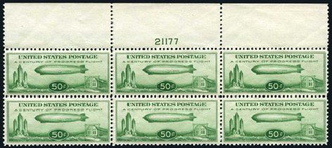 US Stamp Price Scott Catalogue # C18 - 50c 1933 Air Graf Zeppelin. Harmer-Schau Auction Galleries, Apr 2008, Sale 77, Lot 134