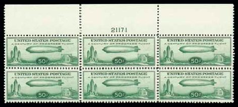 US Stamps Price Scott # C18: 50c 1933 Air Graf Zeppelin. Matthew Bennett International, Jun 2007, Sale 319, Lot 1612