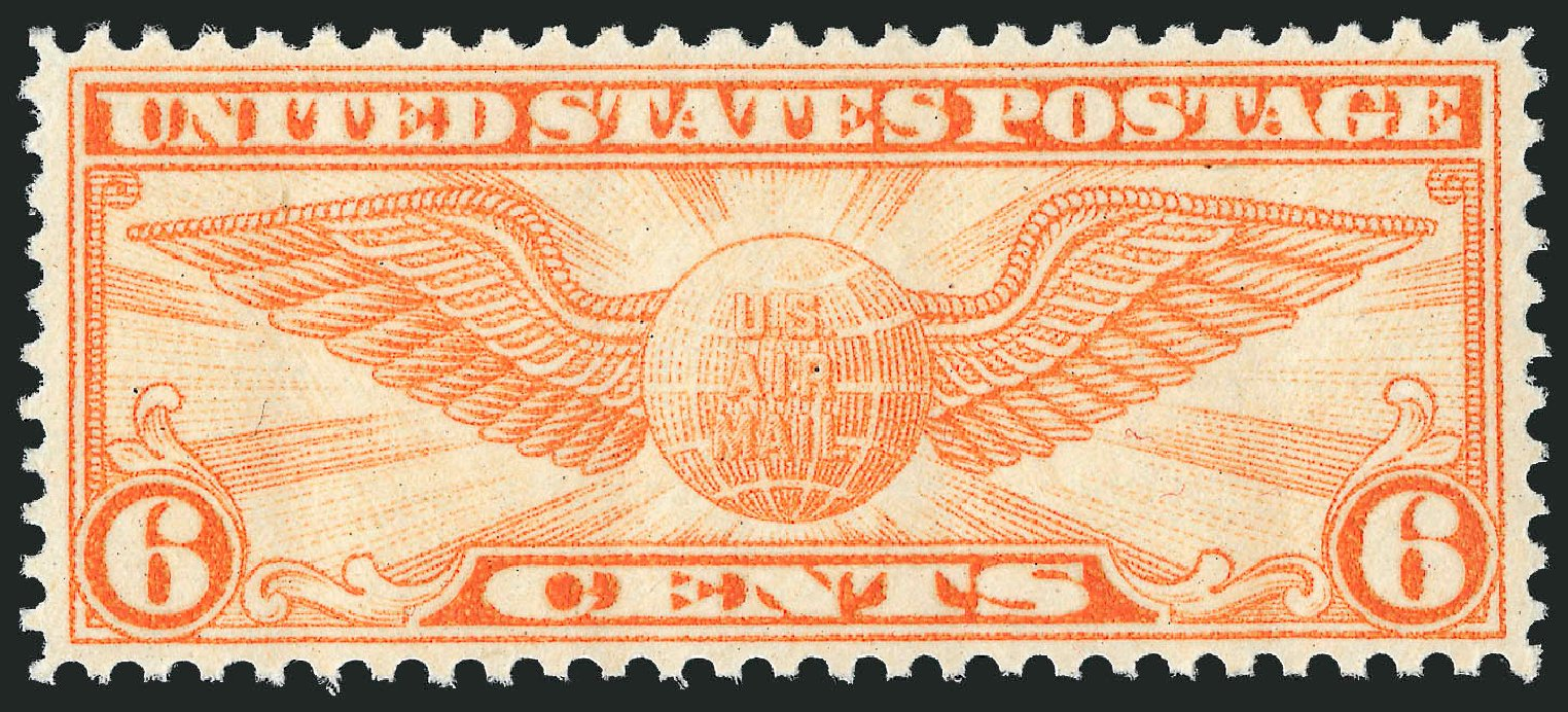Cost of US Stamps Scott Cat. #C19 - 1934 6c Air Winged Globe. Robert Siegel Auction Galleries, Dec 2008, Sale 967, Lot 5068