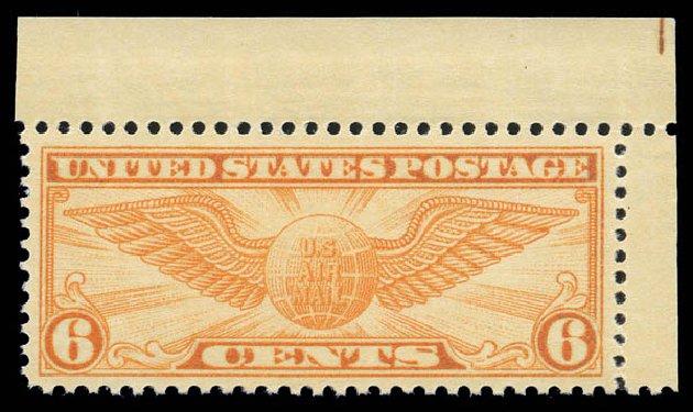 Values of US Stamp Scott Cat. # C19 - 6c 1934 Air Winged Globe. Matthew Bennett International, Sep 2010, Sale 333, Lot 3922