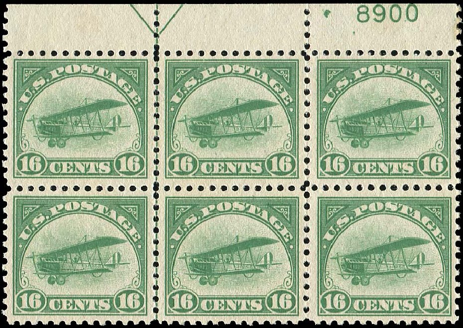 Prices of US Stamps Scott #C2: 1918 16c Air Curtiss Jenny. Regency-Superior, Nov 2014, Sale 108, Lot 1418